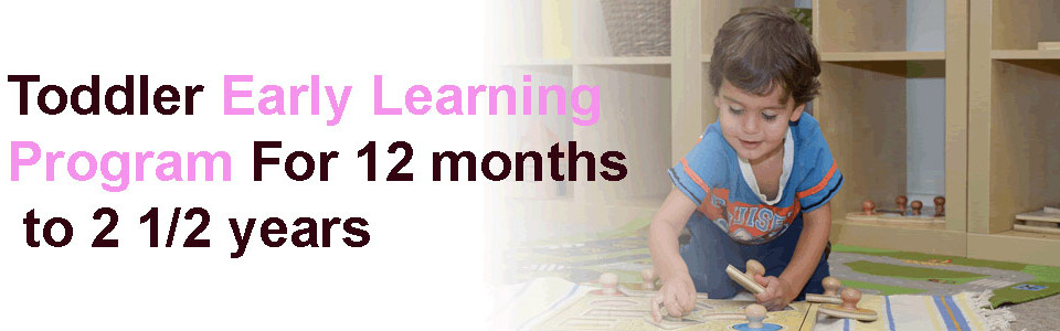 Toddler Early Learning Program For 12 months – 2 1/2 years